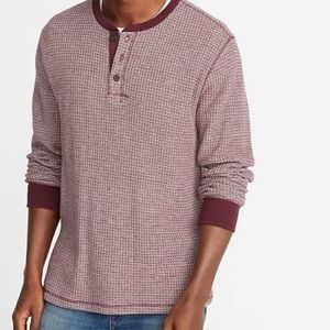 Old Navy Men's Waffle Knit Henley